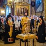 Богослужение в Троице-Сергиевой Лавре