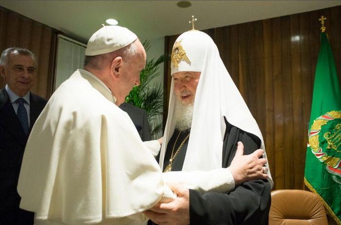 Папа Франциск и Патриарх Московский и всея Руси Кирилл