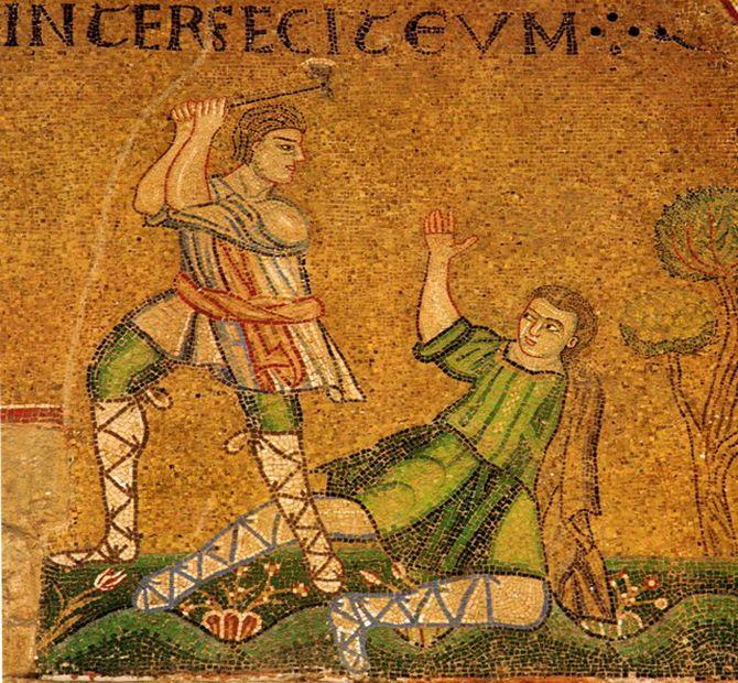 Фреска Каин и Авель
