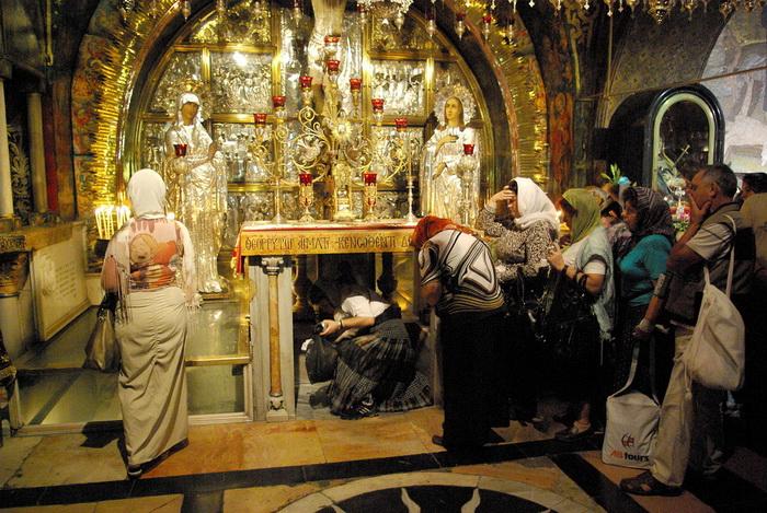 Православный придел Голгофы в Храме Гроба Господня