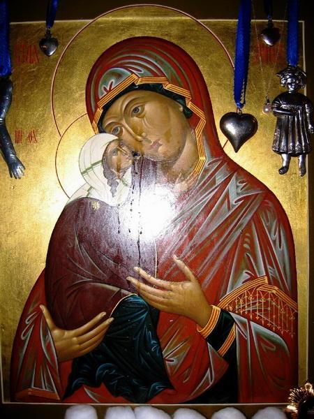 Мироточивая икона Святой Анны, Матери Пресвятой Девы Марии