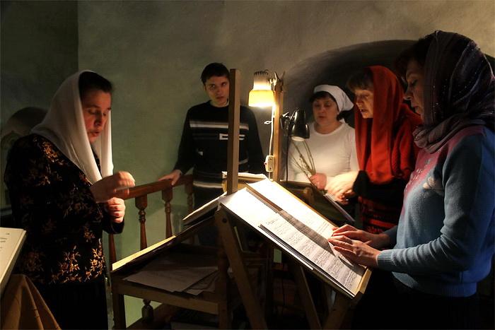 Певцы церковного хора