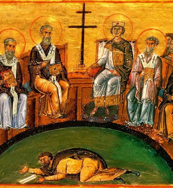 Никейский собор осуждает учение Ария