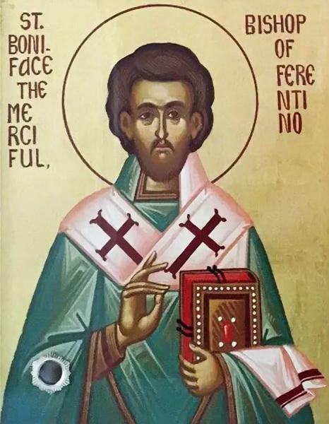 Икона святого Вонифатия Милостивого