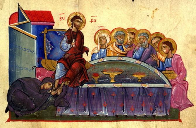 Помазание ног Христа