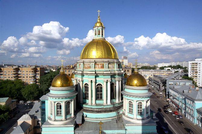 Сферические купола Богоявленского собора в Елохове