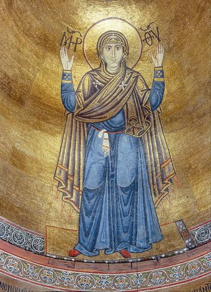 Мозаика «Нерушимая Стена» в Софийском соборе в Киеве