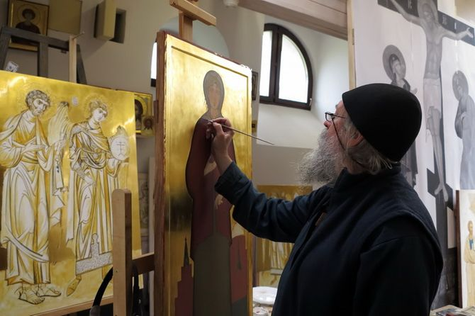 Валаамский иконописец Алипий