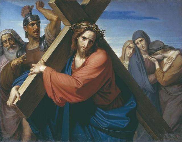 Иисус Христос несет крест