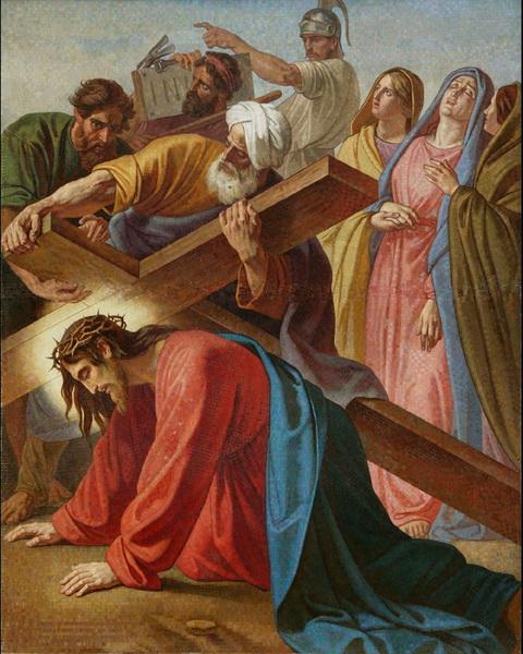 Симон помогает Христу нести крест