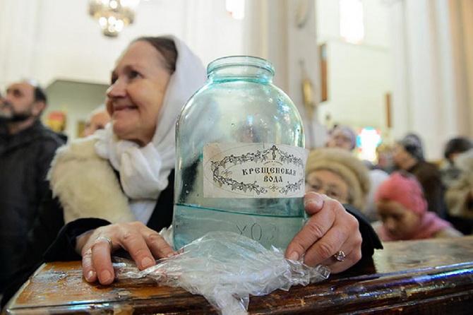 Святая вода на Крещение
