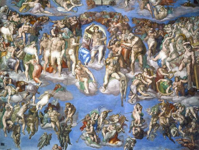 Фреска Микеланджело Страшный Суд