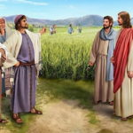 Иисус Христос и фарисеи в поле