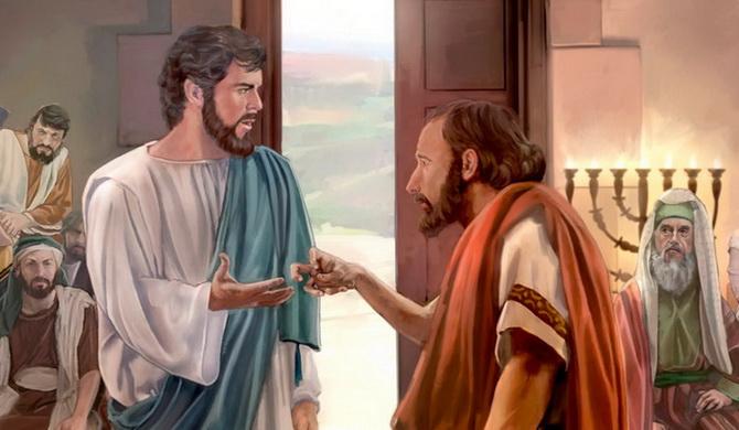 Исцеление Иисусом человека с сухой рукой