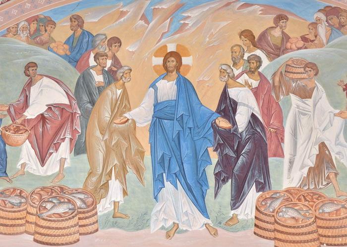 Чудесное насыщение пяти тысяч человек пятью хлебами