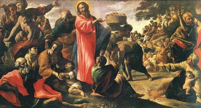 Чудесное насыщение четырех тысяч человек семью хлебами