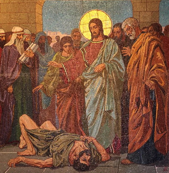 Исцеление бесноватого в капернаумской синагоге