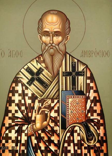 Икона Амвросия Медиоланского