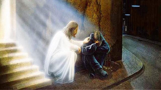 Иисус Христос и отчаявшийся человек