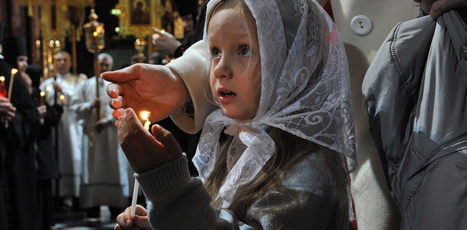 Православные верующие в храме