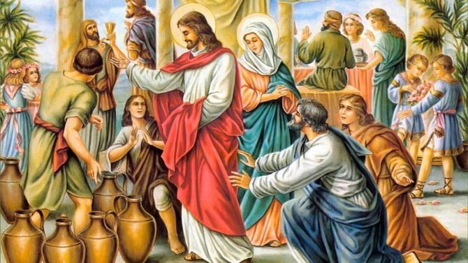 Иисус превратил воду в вино