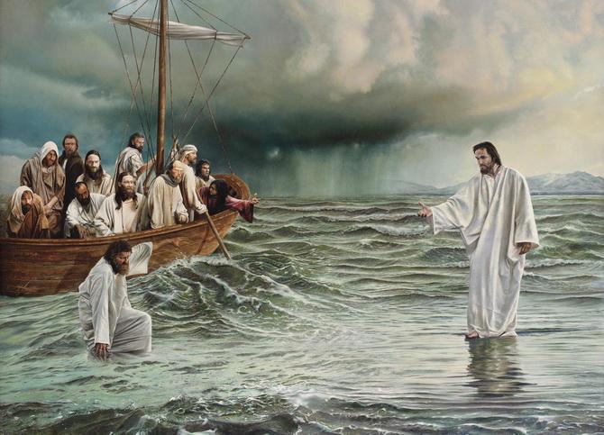Иисус Христос и Пётр
