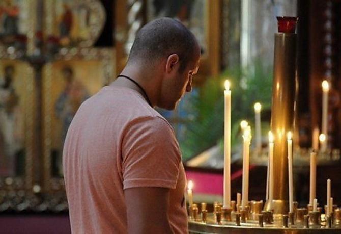 Федор Емельяненко в храме